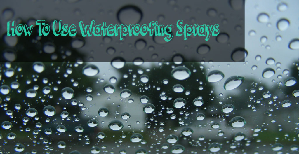 water repelled by the best waterproofing spray