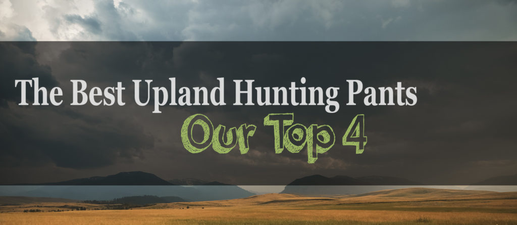 The 4 Best Upland Hunting Pants